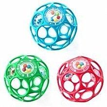 【魔法世界】美國【Kids II-Oball】4吋 沙沙洞動球,顏色隨機