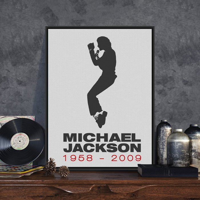 C - R - A - Z - Y - T - O - W - N MICHAEL JACKSON麥克傑克森掛畫傳奇音樂人物裝飾畫珍藏版畫