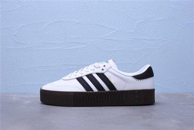ADIDAS Originals Samba Rose W 黑白 鬆糕鞋 厚底 休閒運動板鞋 女鞋 AQ1134