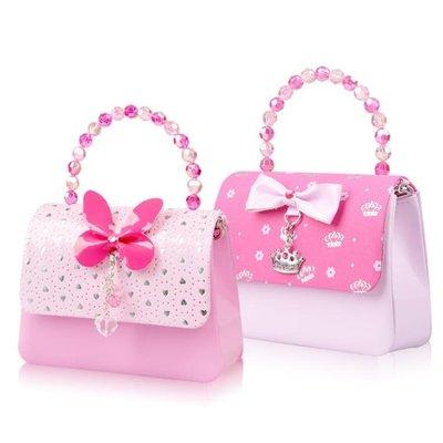 女童公主斜背包 兒童可愛迷你時尚手提包包 小女孩寶寶1-3歲腰包