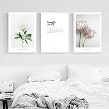 ins北歐風簡約現代花卉字母裝飾畫畫芯畫布高清微噴打印壁畫