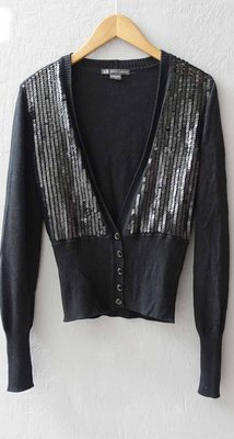 義大利品牌 ARMANI EXCHANGE 女款 黑色 亮片 針織衫 S號