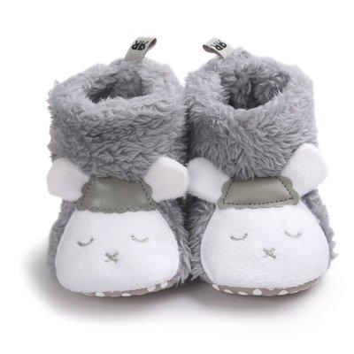 森林寶貝屋~灰小羊造型雪鞋~學步鞋~保...