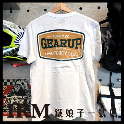 【鐵娘子一號店】台灣 Taiwan 2020 GEAR UP TEE 美國純棉T 經典款 黑 / 白 二色