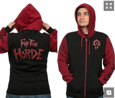 【丹】J!NX_WORLD OF WARCRAFT HORDE PRIDE 魔獸世界 部落 連帽 外套