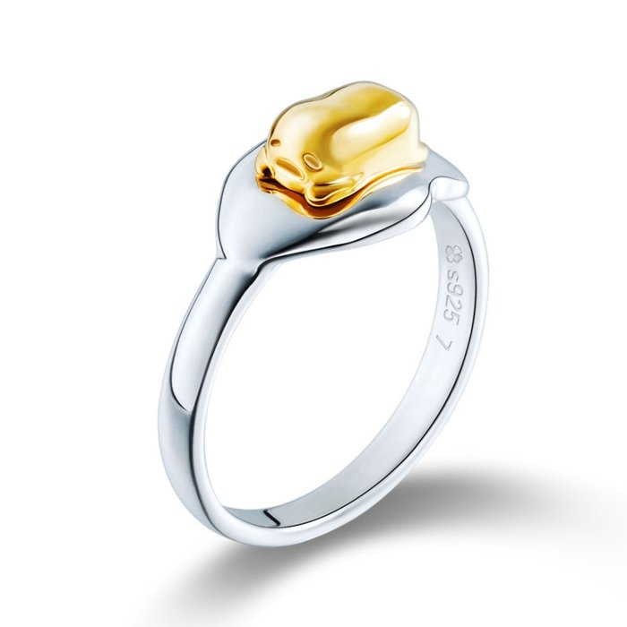 戒指動漫周边同人現貨懶蛋蛋戒指幸運石二次元動漫周邊蛋蛋哥黃君 925銀飾品指環可愛