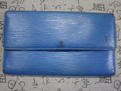 LV Louis Vuitton LV 經典水波紋三折長夾 保證真品