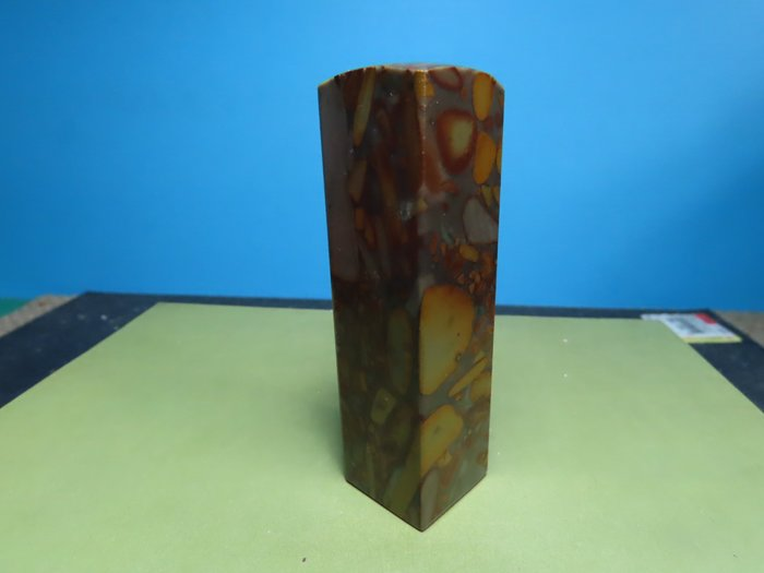 【競標網】天然漂亮女媧石正方形20mm(T2)(超低價起標、價高得標、限量一件、標到賺到)