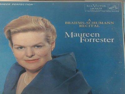A-3-23古典-RCA/LM-2275/紐馬克,鋼琴/莫蓮弗雷斯特,女低音/舒曼:女人的愛與一生/布拉姆斯:吉普賽之歌