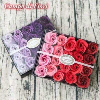 【Campo di Fiori】義大利設計香皂花 玫瑰花瓣紙香皂20朵入-(紅玫瑰/白玫瑰) 2種香味可選
