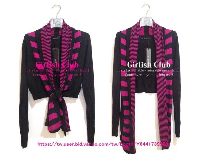 【Girlish Club】專櫃Doch圍巾式針織衫外套原1680(m1083)mia韓國sz萊卡佛iroo二三一元起標