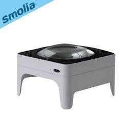 【風雅小舖】【Smolia Square-日本品牌LED充電調光放大鏡-可充電/LED燈照明/數倍放大/觸控調光】
