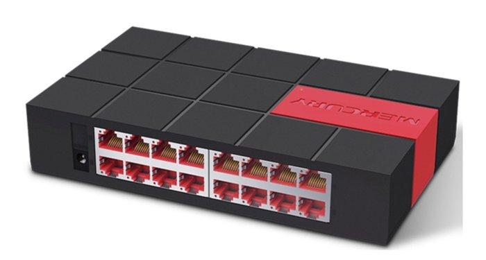 膠殼 SG116M 交換器16埠 16口 1000M Giga Switch HUB 交換機 tp-link 水星