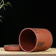 高鳴商城 宜興黃龍山降坡泥紫砂罐子紫砂茶葉罐大號茶罐子普洱茶餅筒子 編號a006