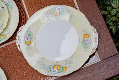 【旭鑫骨瓷】Aynsley Corset 圖樣號B476615 英國 瓷器 骨瓷 蛋糕盤 (C.20)