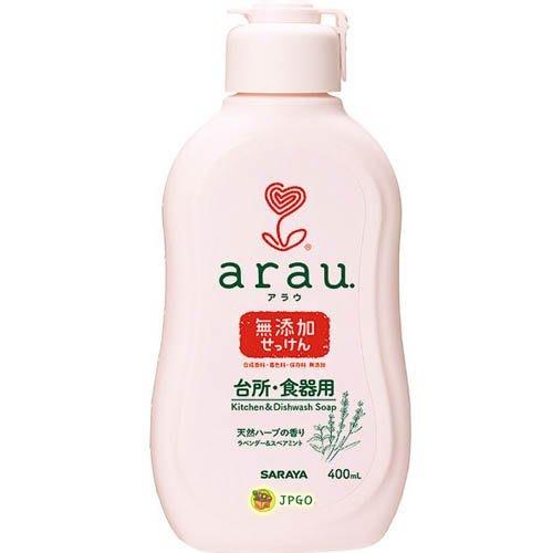 【JPGO日本購 】日本進口 arau. 無添加 洗碗精~可洗嬰兒餐具奶瓶#330