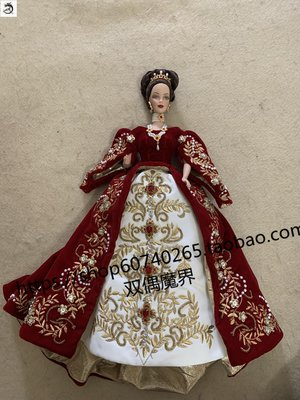 九州動漫芭比 Imperial Splendor Porcelain Barbie紅絲絨 2000 陶瓷 現貨