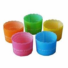 聚吉小屋 #熱賣#外貿出口烘培杯子蛋糕杯食品級PET彩色半透明磨砂耐高溫無味10個(價格不同 請諮詢後再下標)