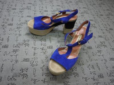 義大利製 L'AUTRE CHOSE 高級麂皮粗跟涼鞋 EUR 35 USA 5.5 JPN 22.5