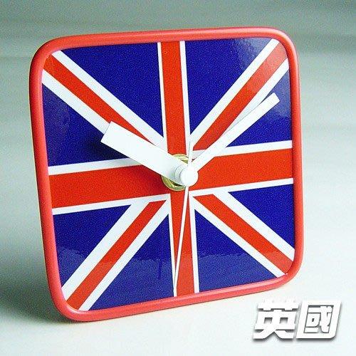 【衝浪小胖】英國國旗/膠框桌鐘/掛鐘/機芯/指針/UK/各國家款式都有賣/手工製造