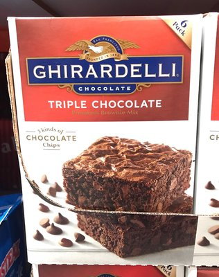 Costco好市多 GHIRARDELLI 巧克力布朗尼預拌粉 3.4kg  鷹牌 brownie mix