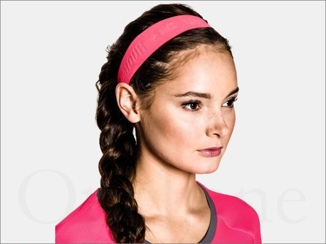Under Armour UA安德瑪螢光粉紅色寬版跑步健身瑜伽運動籃球髮圈髮帶頭帶頭箍頭巾吸汗透2條 愛COACH包包
