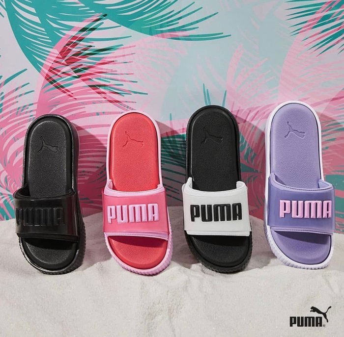 【Luxury】PUMA Platform Slide Fashion 拖鞋 厚底 黑 白 粉 紫 女鞋 韓國代購 正品