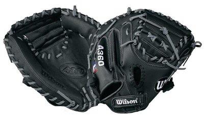 """Wilson A360兒童棒球捕手手套31.5"""" 黑色"""