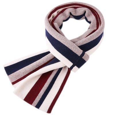 圍巾 羊毛 披肩-秋冬條紋加厚針織男配件3色73wh27[獨家進口][米蘭精品]