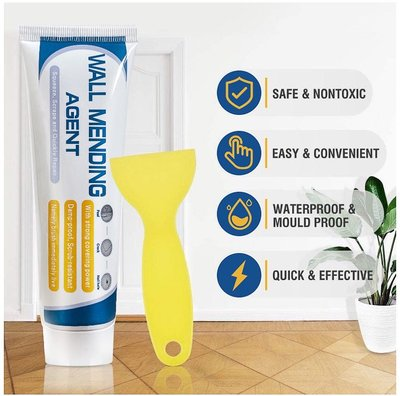 【WALL MENDING AGENT】牆面修補劑牆體裂縫修補劑150g+刮板+出嘴料