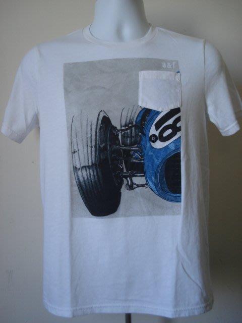 【680含運】A&F abercrombie graphic pocket tee口袋短T短袖T恤KIDS白色XL號
