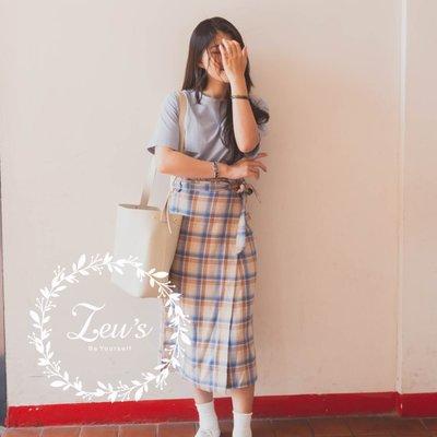 【ZEU'S】夏裝新款格紋綁帶長裙『 04119909 』【現+預】D
