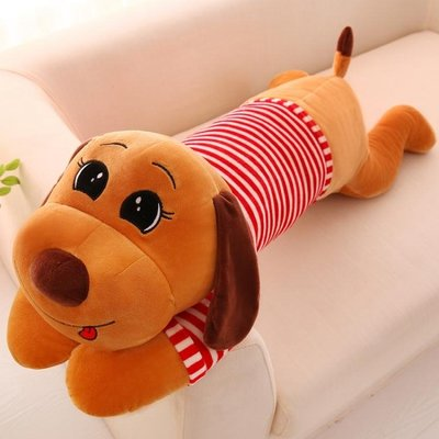 毛絨玩具香腸小型狗可愛抱枕公仔擺件玩偶小布娃娃兒童禮物