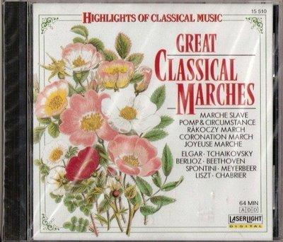 古典CD - Great  Classical Marches - 1988年美國盤 - 保存如新 - 251元起標   245