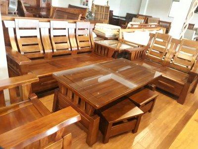 【尚品傢俱】648-30 靜岡黃花梨木實木組椅