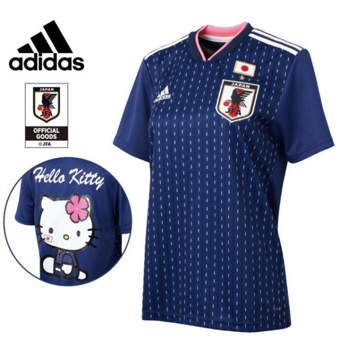 Adidas + Hello Kitty 日本國家隊限量聯名衣太可愛 藍