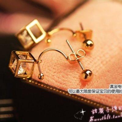 耳環 #H-009 幸運魔方款