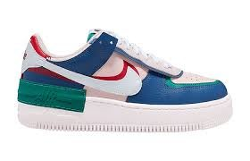 POMELO柚 Nike  Air Force 1 Shadow 粉紅藍 彩色  皮革 運動 女鞋CI0919-400