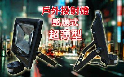 LED感應投射燈 30W 超薄款 大門警示燈【保固1年】台灣製造  IP65 防雨淋新品超薄款