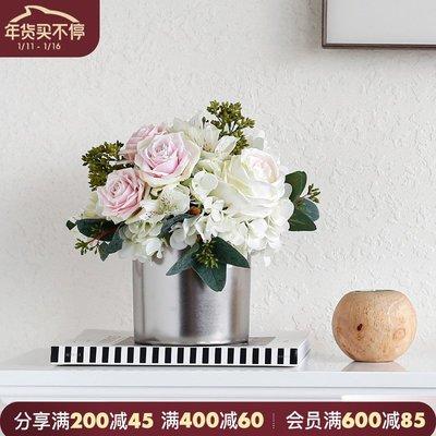 千禧禧居~ladylike森系玫瑰花仿真花擺件家居飾品 繡球花假花裝飾花 客廳