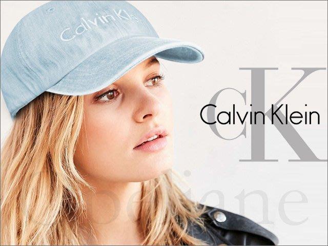 現貨 CK Calvin Klein Hat 卡文克萊 牛仔布單寧棒球帽防曬遮陽帽高爾夫球帽可調整帽圍 愛Coach包包