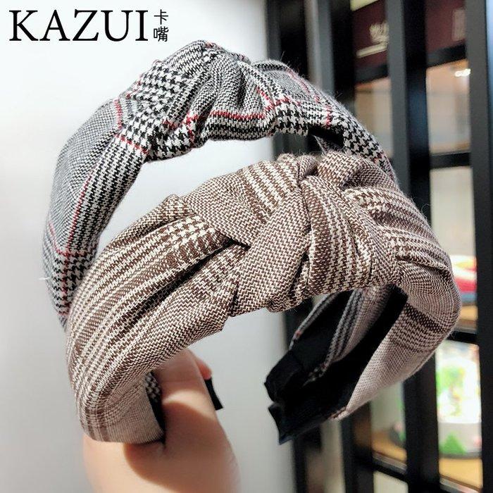 韓國新款韓版豹紋發箍寬邊復古時尚發飾防滑甜美百搭潮流布藝頭箍