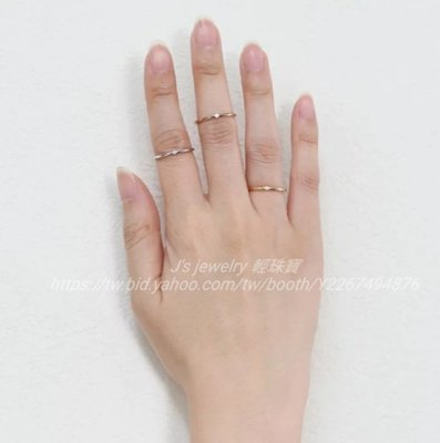 日本訂製 18K金鑽石戒指 單鑽細線戒  tiffany agete Vendome Aoyama VA 日雜款