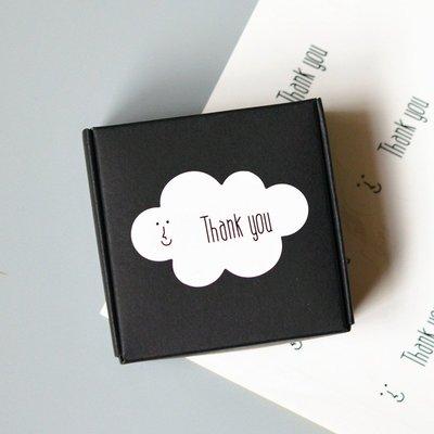 Amy烘焙網:一張20貼/創意設計微笑雲朵thank you封口貼/雲朵感謝裝飾貼/thank you封口貼