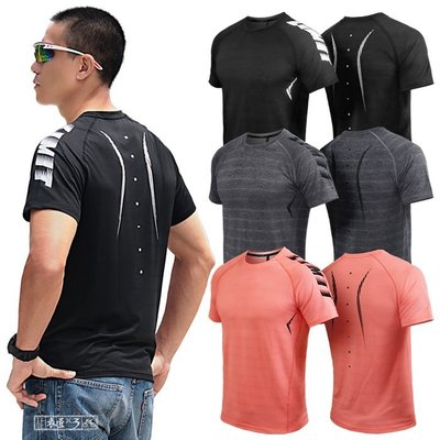 《衣匠》☆ 網洞透氣彈性材質 大幅面印刷 叉肩袖版型 運動短袖T恤﹝TS42L﹞