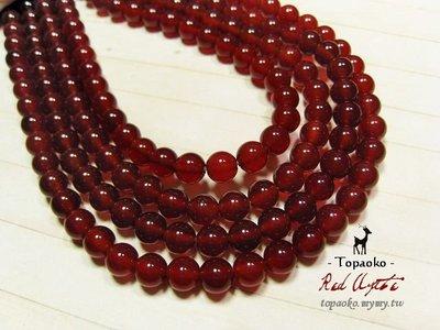 《晶格格的多寶格》串珠材料˙天然石配件 天然紅玉髓/紅瑪瑙6mm圓珠一份(60P)【S306-06】條珠/佛珠