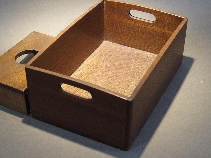 ☆清沁苑☆//特價品出清//日本茶道具~桐木製 手作長方木盒 茶具收納盒~d583
