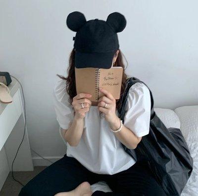 *~fuyumi boutique~*100%正韓 21S/S新款 可愛米老鼠耳朵棒球帽