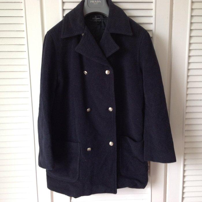 【Les Copains】深藍雙排扣大衣
