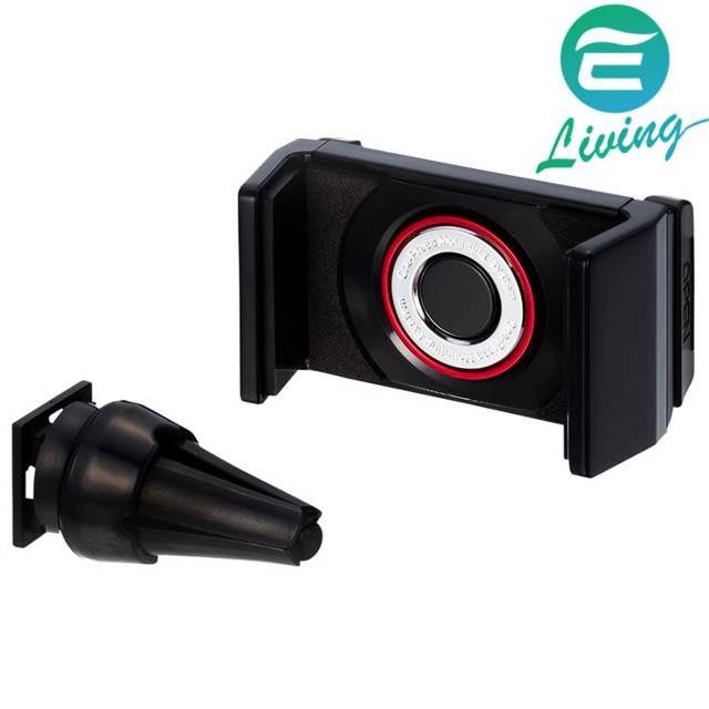 【易油網】SEIKO 冷氣孔可調智慧手機架 EC-180 (黑)